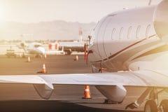 行政VIP喷气机飞机 库存图片