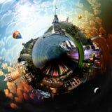 行星伊斯坦布尔 免版税库存照片