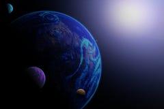 行星例证 库存图片