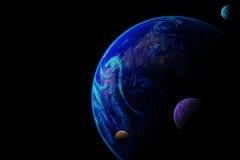 行星例证 免版税图库摄影