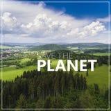 行星保存 夏时的鸟瞰图在山的 vi 免版税库存图片