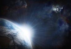 行星发光 库存例证