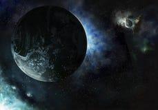 行星发光 向量例证