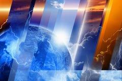 行星和天空 库存照片