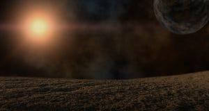行星和星的例证 库存图片