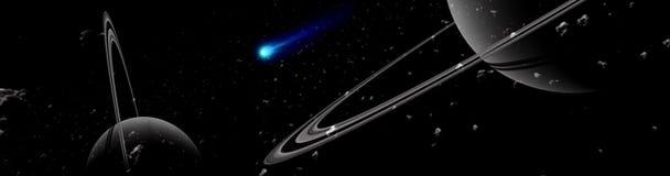 行星和星系,波斯菊,物理宇宙论 皇族释放例证