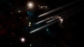 行星和星系,波斯菊,物理宇宙论 库存例证