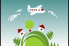 行星和飞机 股票视频