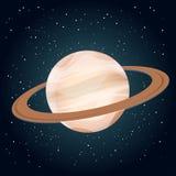 行星土星的例证 免版税库存照片