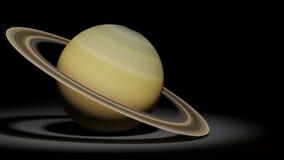 行星土星,圆环行星,太阳系集合 皇族释放例证