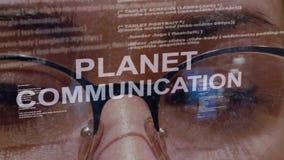 行星在女性软件开发商的通信文本 股票视频