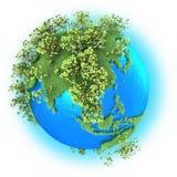 行星地球上的东南亚 图库摄影