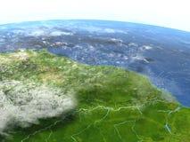 行星地球上的亚马逊三角洲 向量例证