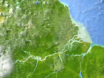 行星地球上的亚马逊三角洲 库存例证