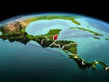 行星地球上的伯利兹在空间 免版税库存照片