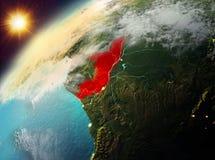行星地球上的刚果在日落 库存图片