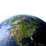 行星地球上的北美 免版税库存照片