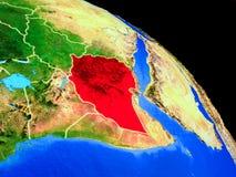 行星地球上的埃塞俄比亚 库存例证