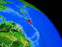 行星地球上的多米尼加共和国 皇族释放例证