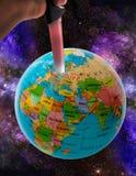 行星地球上的恐怖主义 图库摄影