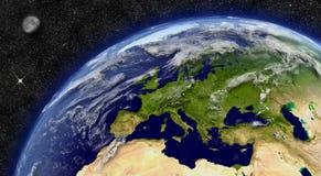 行星地球上的欧洲 免版税库存图片