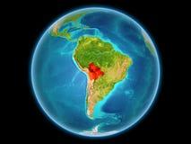 行星地球上的玻利维亚 免版税库存照片