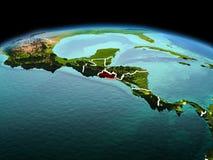 行星地球上的萨尔瓦多在空间 免版税图库摄影