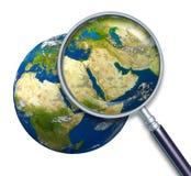 行星地球中东危机 免版税库存照片