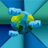 行星地球低多样式 向量例证