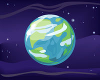 行星地球在空间背景中 免版税库存照片
