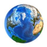行星地球地形从一个北方面 免版税库存照片