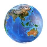 行星地球地形 免版税库存照片