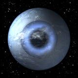 行星地球当眼睛球 免版税库存图片