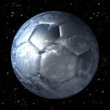 行星地球当足球 免版税图库摄影