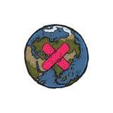 行星地球的例证 免版税库存图片