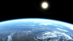 行星地球的动画 向量例证