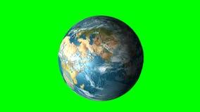 行星地球的自转 库存例证
