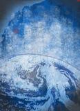 行星地球grunge背景 免版税库存图片
