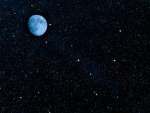 行星天空星形 库存图片