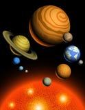 行星太阳系 免版税库存照片