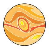 行星木星动画片 向量例证