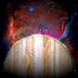 行星木星-美国航空航天局装备的这个图象的元素 库存照片