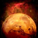 行星火星-美国航空航天局装备的这个图象的元素 免版税库存图片