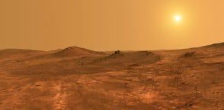行星火星-美国航空航天局装备的这个图象的元素 免版税库存照片