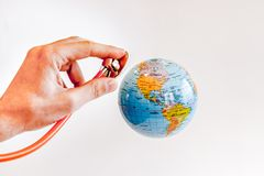 行星的健康的状况 免版税库存图片