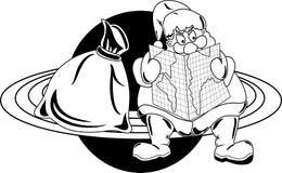 行星的圣诞老人 免版税库存图片