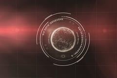 行星的数字图象与大数据的发短信给3d 免版税库存图片