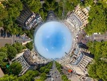 行星的都市化 免版税库存照片