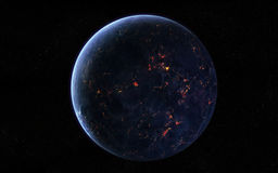 行星视图 皇族释放例证
