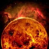 行星金星-美国航空航天局装备的这个图象的元素 免版税库存图片